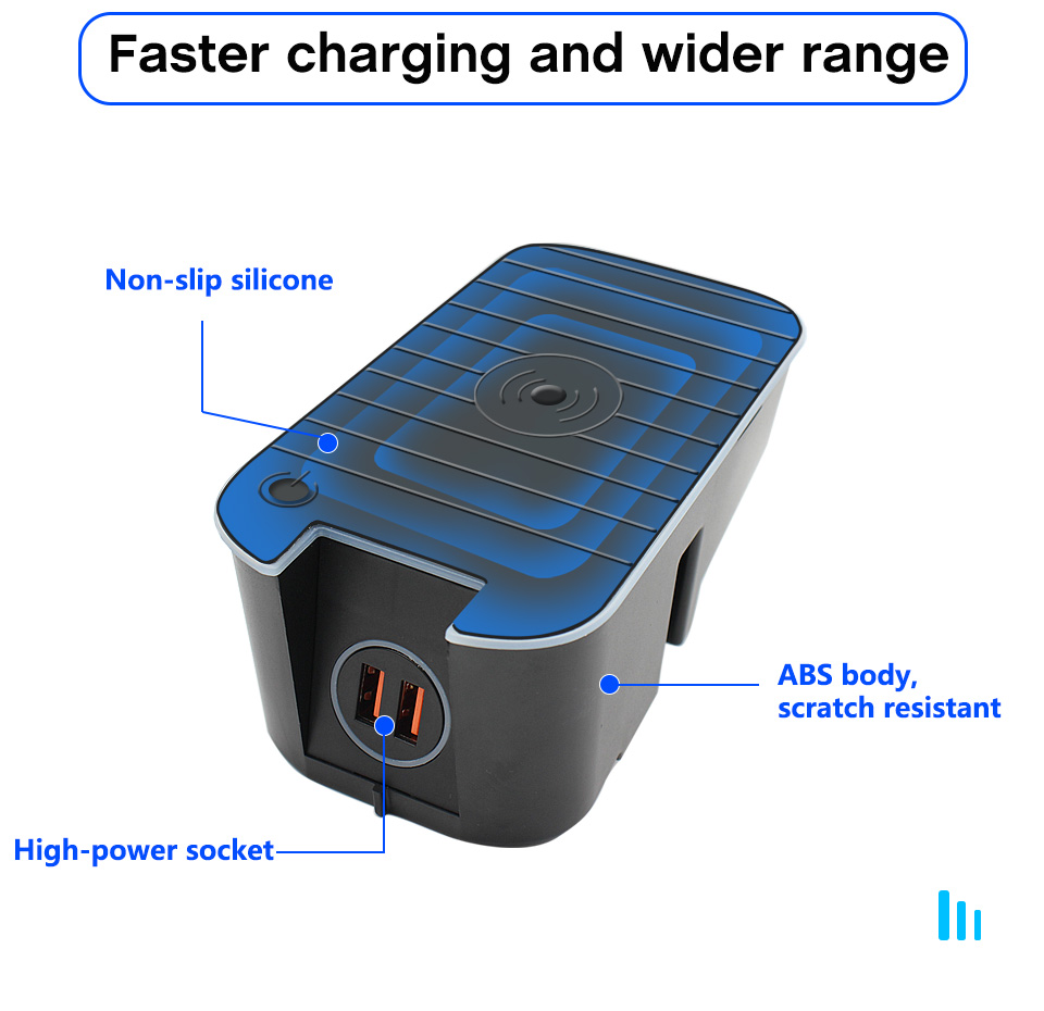 US $76.85 40% OFF Wireless Car Charger Fit for Volvo XC90 XC60 S90 V90 2019 2020 QC3.0 Fast Charging with USB Port QI Smart Phone Charging Pad   