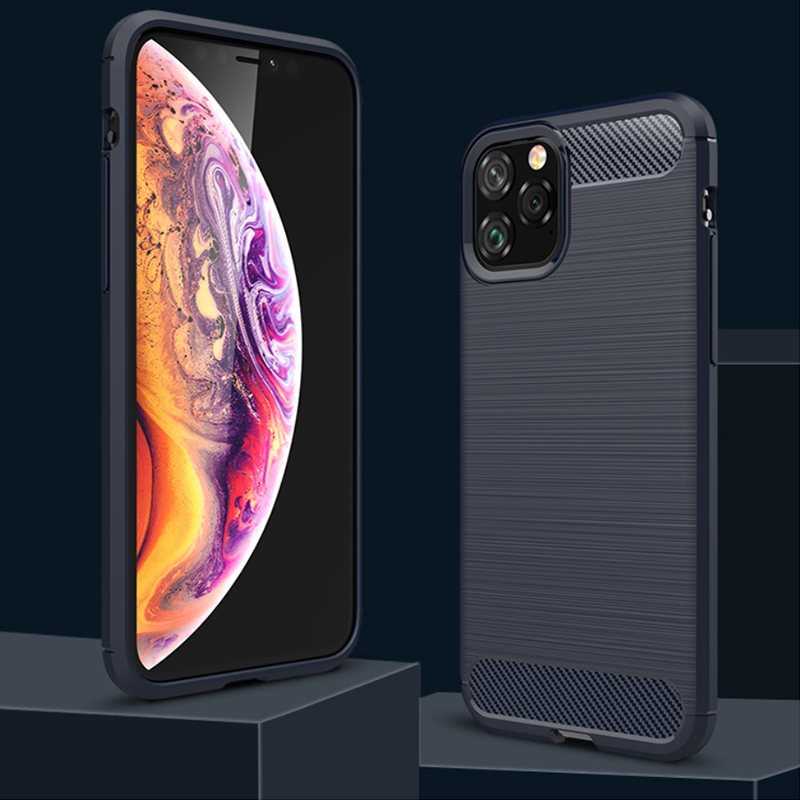 Suitable For IphoneSE 2020 Protective Cover Mobile Phone Shell Apple Xs Max Carbon Fiber 11pro Mobile Phone Anti-fall Cover