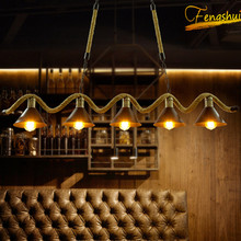 Retro Industrial Style Personality Hemp Rope Pendant Lights American Country Living Room Restaurant Bar Cafe Decor Pendant Lamp