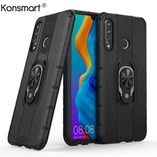 New Case For Huawei P30 Lite P30 Magnetic Car Holder Shockproof Phone Cases For Huawei P30 Pro Finger Ring Matte TPU+PC Cover цены