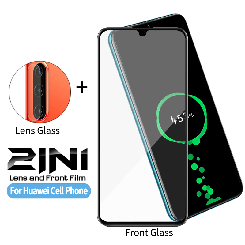 2 In 1 Camera Screen Tempered Glass For Huawei Honor 10 10i 20 P10 P20 P30 Pro Plus Lite Camera Lens Screen Protective Glass