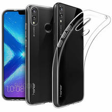 Ultra fino transparente TPU para Huawei Honor 9X Pro X8 8C Play 8A funda posterior para móvil funda de silicona transparente Honor 7X 7A 9 Coque(China)