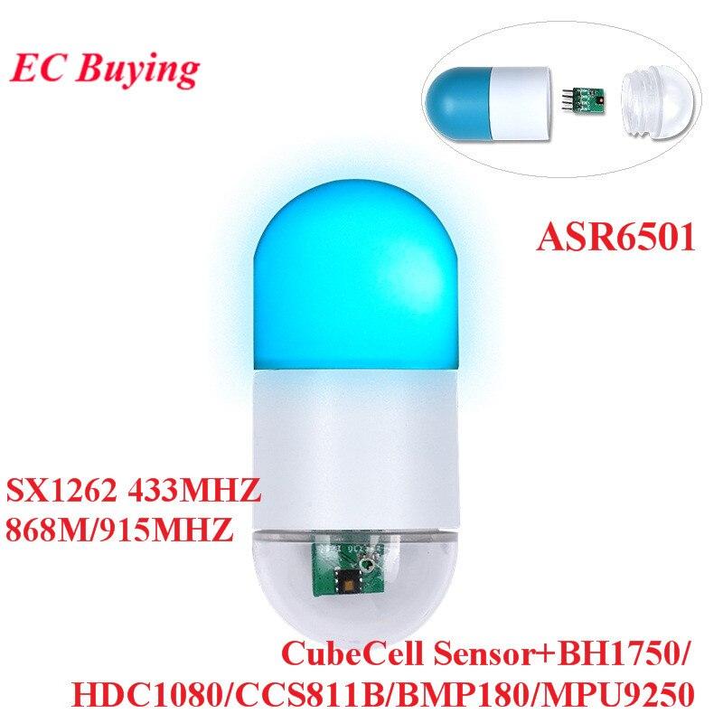 ASR6501 SX1262 LoRaWAN CubeCell Sensor Modul 868MHZ 915MHZ 433MHZ Für Arduino LoRa Knoten BH1750 HDC1080 CCS811B BMP180 MPU9250