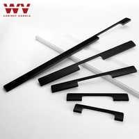 WV American Solid Handle 600MM Matte Black Gold Aluminum Handles Modern Simple Wardrobe Door Long Knob Cabinet Drawer Pulls 299