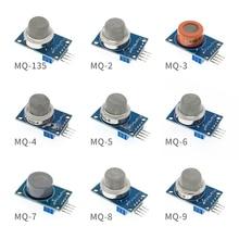 50Pcs MQ 2 MQ 3 MQ 4 MQ 5 MQ 6 MQ 7 MQ 8 MQ 9 MQ 135 Detectie Rook Methaan Vloeibaar Gas Sensor Module