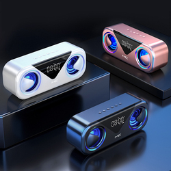 Portable Wireless Bluetooth Speakers Wireless Bluetooth Speaker Bass Stereo Atmosphere Light 20 Hours Playing Time LED Display