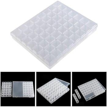 5d caja de pintura de diamante herramienta de plástico herramientas de almacenamiento Kit de pintura de diamantes accesorios cuadrados completos bordado punto de perforación completo