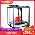 Модернизированный 3D-принтер Tronxy X5SA, 24 В, набор «сделай сам», металлическая пластина, 3,5 дюйма, ЖК-дисплей, сенсорный экран, высокая точность, а...