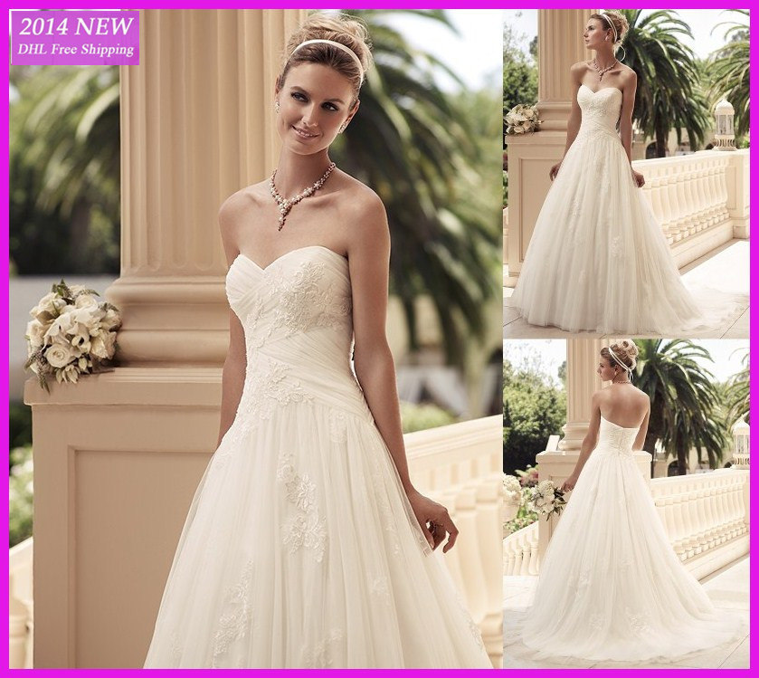 Bola Elegante Vestido De Casamento Vestidos Com Apliques De Renda Em Tule Branco/vestido De Noiva Marfim Personal Wedding Dress