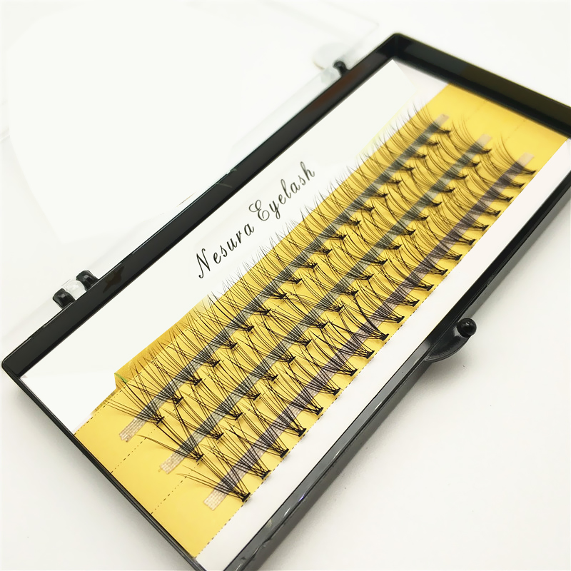 1box Big Capacity 60 Bundles 6d 10D Eyelash Extensions 0.1mm Thickness True Mink Strip Eyelashes Individual Lashes Natural Style
