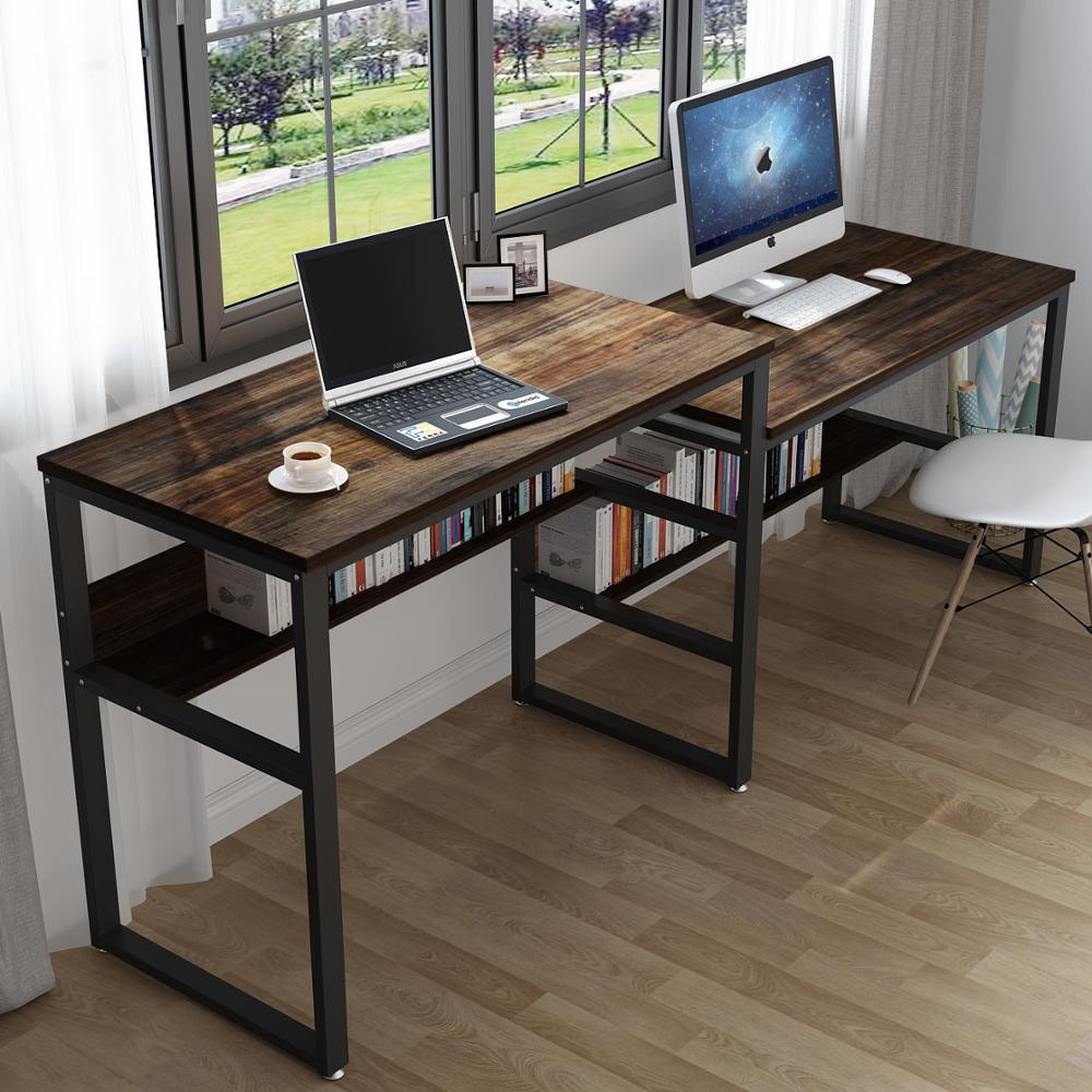94 48 Inches Two Person Desk Double Computer Desk Sit And Standing Desk For Two Person Simple Writing Office Desk Meja Komputer Aliexpress