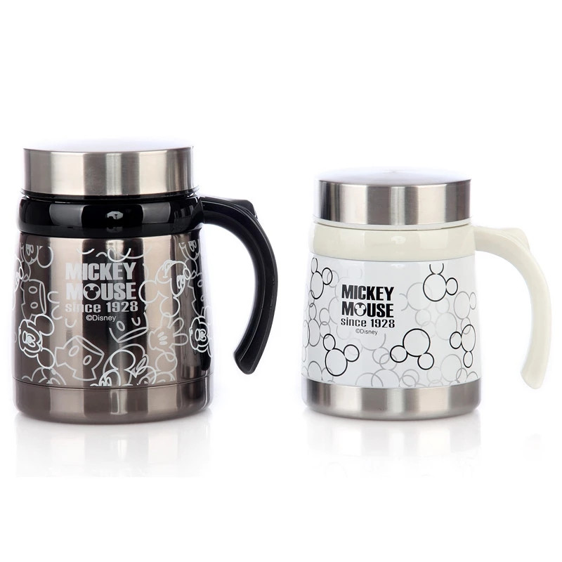 450ml 300ml Disney Mickey Cartoon Water Cup Stainless Steel Thermos Cup Milk Tea Coffee Mug Home Office Drinkware Women Gifts