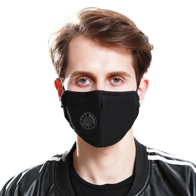 New Filter Black mouth Mask anti dust mask Activated carbon filter Windproof Mouth-muffle bacteria proof Flu Face masks Care 1