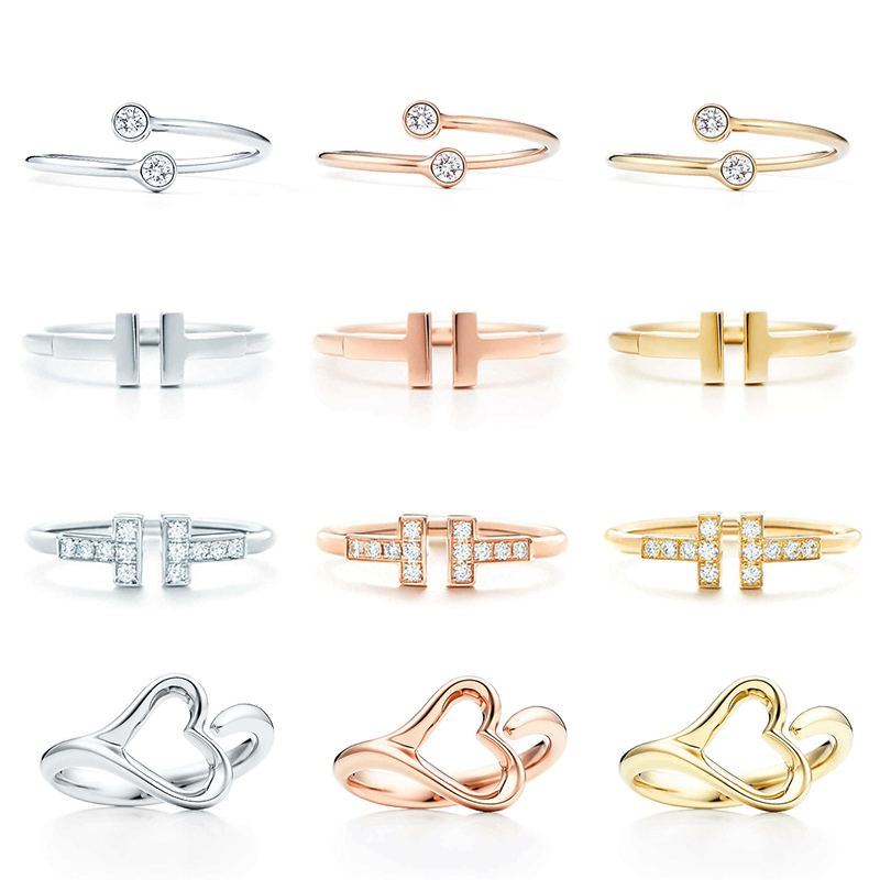 JZ  03  TFB RLLEN Quality Original 925 Sterling Silver Simple Elegant Classic Ring Series DIY Jewelry For Women Free Shipping