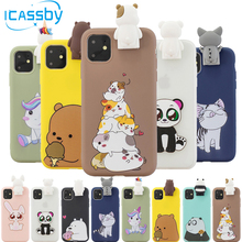 Чехол для iPhone 11, силиконовый, милый, 3D, кот, панда, ТПУ, мягкая задняя крышка, чехол для iPhone 6, 6 S, 7, 8 Plus, 11 Pro, XS Max, XR, X, 5S, 5, SE, чехол