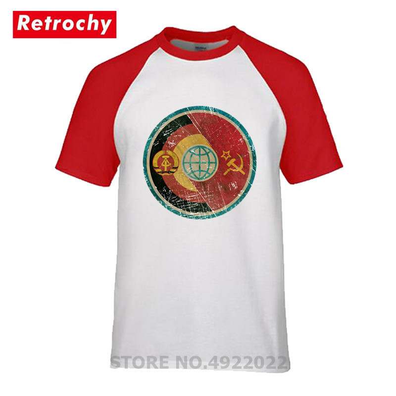 DDR Sowjetunion Raum Mission Allianz T Hemd 2019 Männer Retro Russland CCCP Yuri Gagarin T-Shirt Raum Exploration Programm T-shirt