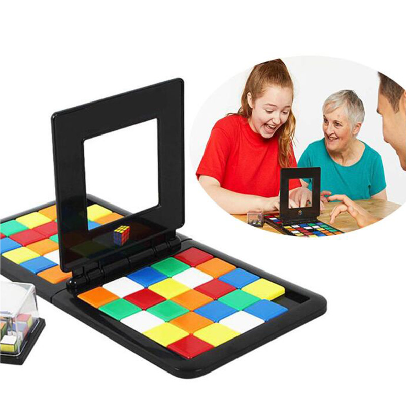 Colorful Puzzle Cube 3D Puzzle Race Cube Board Running Game Kids Adults Interesting Table Game Education Toys Gift for Children