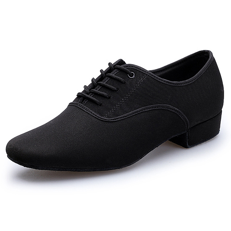 Plus Size 39-46 Indoor Dance Shoes Men Black Latin Ballroom Salsa Shoes Low Heel Tango Ballroom Jazz Dance Shoes