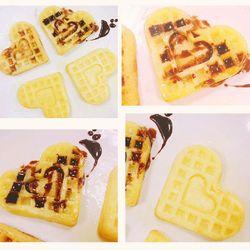 4 trzymaj kształt serca wafel formy Food Grade silikonowe Muffin ciasto wafel formy ciasto dekorowanie narzędzia narzędzia kuchenne PCMMA|Formy do wafli|   -