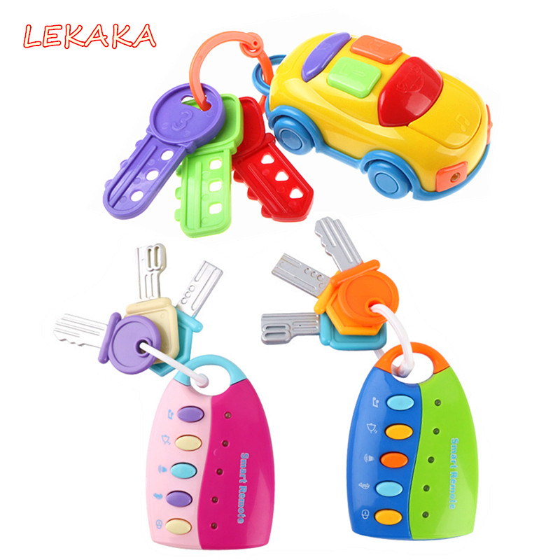 2019 Pretend Play Smart Car Key Voices Musical Juguetes Bebe Brinquedos Music Baby Learning Electronic Toys For Baby Boy Girl