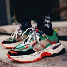 Men Vulcanized Shoes Fashion Multicolor Platform Sneakers Man High Quality