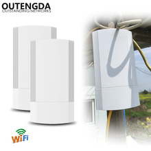 Outdoor CPE AP 5.8GHz 450Mbps Super-WDS PTP 1~2KM Wireless Access Point WiFi Bridge Repeater Router with PoE Adapter EU/AU/US/UK 2pcs 5ghz outdoor cpe elevator wireless bridge 1 2km range 450mbps ap router access point wifi repeater extender support wds poe