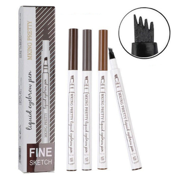 Four-headed Eyebrow Pencil Extremely Fine-grained Eyebrow Pencil Waterproof Liquid Eyebrow Pencil image