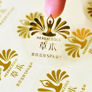 Image 4 - custom logo design transparent clear pvc label sticker with metallic silver/gold/black/red/purple/blue/rose foil stamp printing