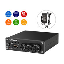 AIYIMA-AMPLIFICADOR DE POTENCIA TDA7498E, con Bluetooth 5,0, 2,0/2,1, canal estéreo, 160W x 2, Subwoofer, Hifi Audio Digital, amplificador de sonido para cine en casa