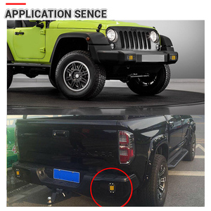 Image 5 - 2Pcs 5 Inch Flush Mount 5D Square LED Driving lamp flood spot Beam Doul Row OffRoad Work Light for Jeep 4x4 offroad truck 12V
