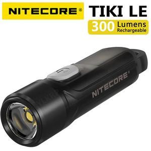 Image 2 - 100% מקורי NITECORE טיקי GITD טיקי LE 300 Lumens מיני עתידני keychain אור USB נטענת