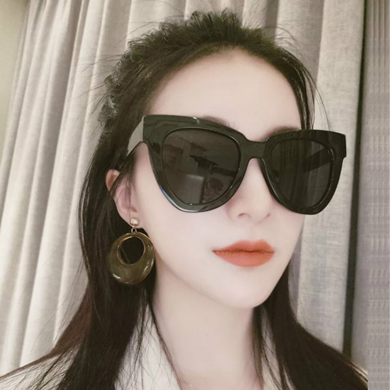 Big Box Cat's Eye Sunglasses Men And Women Joker Retro Eyeglasses Red Fashion Sun Glasses