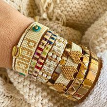 Go2boho boho ювелирные изделия miyuki браслет женские эмалированные