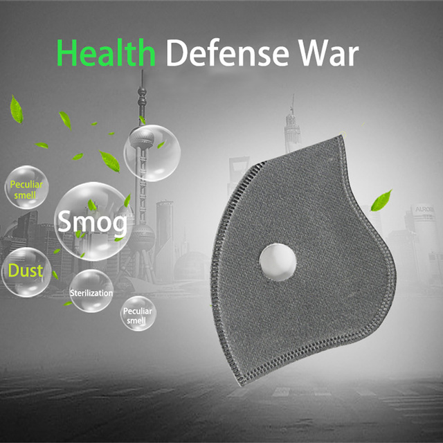 2 pcs PM2.5 black mouth mask dustproof activated carbon filter windproof bacteria-proof flu-proof face masks care 1