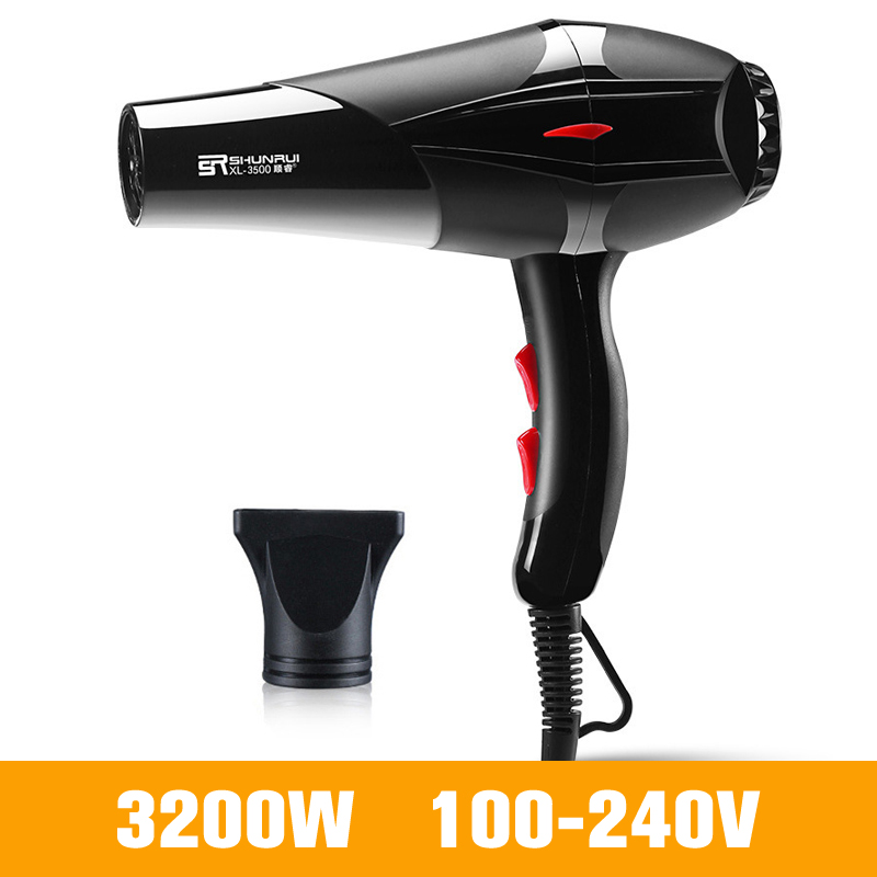 Professional Hair Dryer For Hairdressing Barber Salon Tools Strong Power Blow Dryer Hairdryer Fan 3200W/1400W 100-240V D38