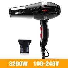 Profi haartrockner für Friseur Barber Salon Werkzeuge Starke Power Fön Haartrockner Fan 3200W/1400W 100 240V D38