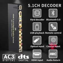 Hd815bt hdmi 51 аудио преобразователь декодер dac dts ac3 flac