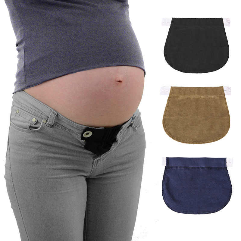New Maternity Pregnancy Waistband Belt Adjustable Elastic Pants Extended Button Pants Extended Button for Pregnant Women
