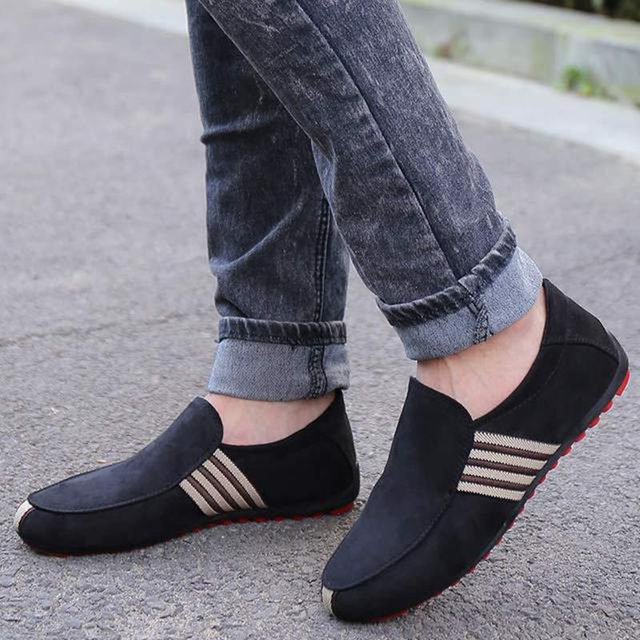 Mazefeng 2019 New Spring Men Canvas Loafers Driving Shoes Moccasins Summer Fashion Men's Casual Shoes Flat Breathable Lazy Flats 1
