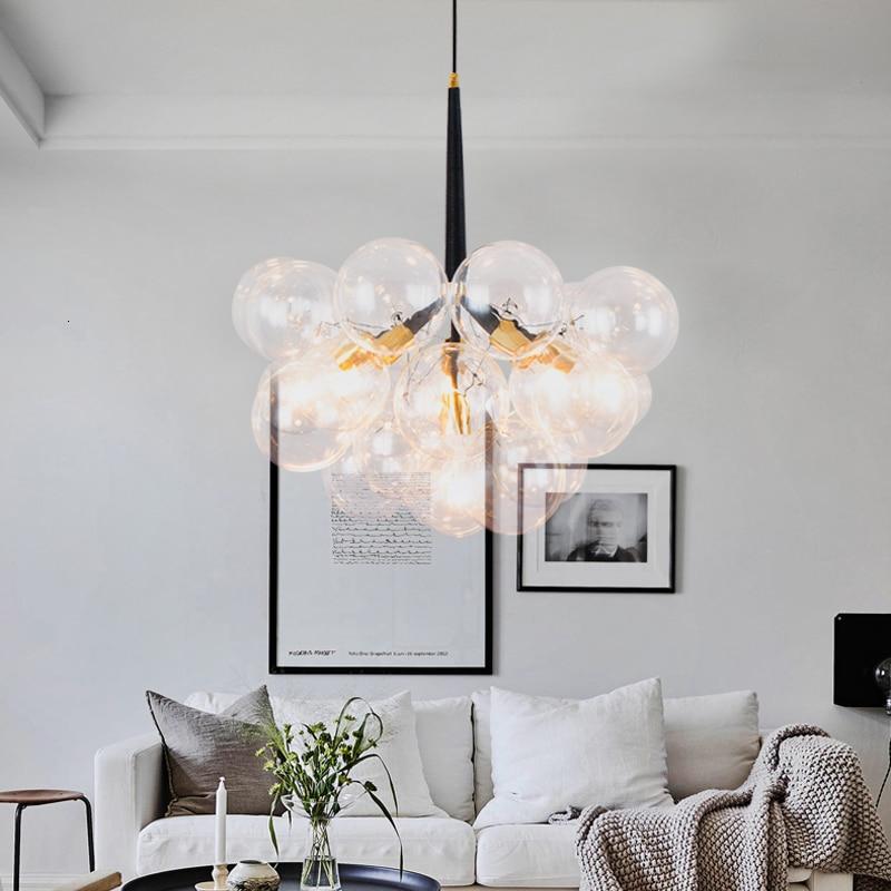 Nordic Hanging Lamp Luminaire Suspendu Glass Home Decoration E27 Light Fixture  Living Room  Bedroom Deco Chambre  Deco Maison