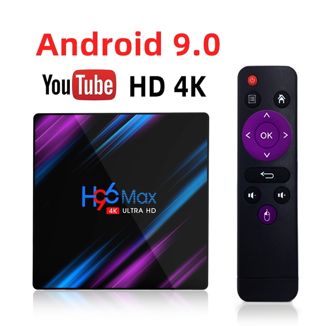 Android 9.0 TV Box H96 Max Rockchip RK3318 4K Smart TV Box 2.4G&5G Wifi BT4.0 16GB 32GB 64GB Media Player Android Set Top Box