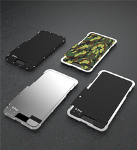 Armor King Stainless Steel Metal Flip Case For iPhone 11 11 Pro Max XS XR Shockproof Cover For iPhone X 8 7 plus 6S Cover Luxury