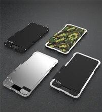 Armure Roi En Acier Inoxydable Métal Flip étui pour iPhone 11 11 Pro Max XS XR Housse Antichoc Pour iPhone X 8 7 plus 6S Couverture De Luxe