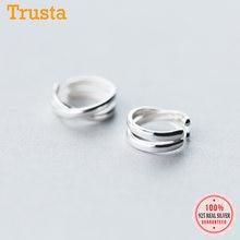 Trusta-pendientes 100% Plata de Ley 925 con Clip para mujer y niña, 2 uds., joyería sin Piercing, DS534