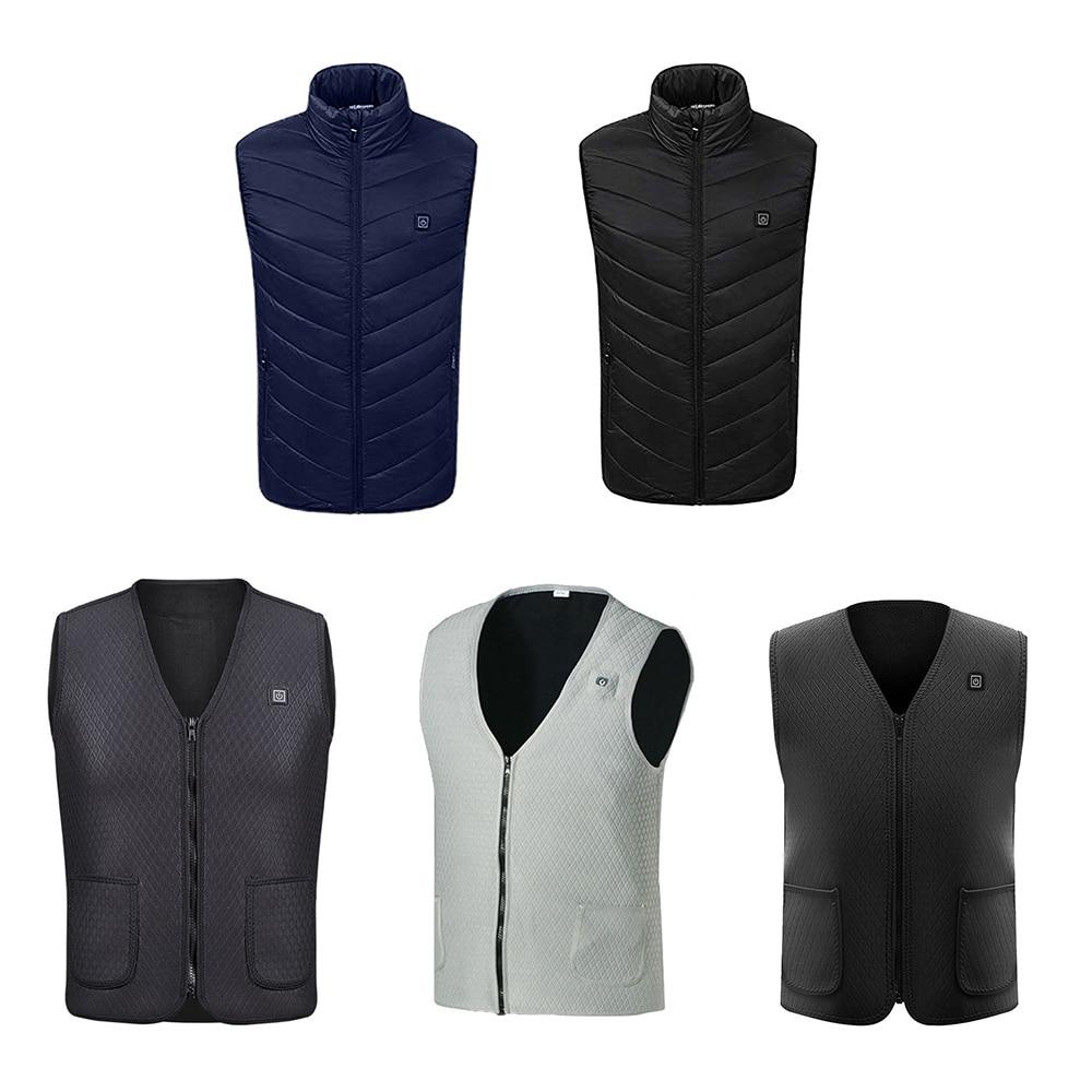 USB Heated Vest Coat For Men Women Thermal Heated Jacket Clothing Winter Fishing Vest Tactical Outdoor Winter Heating Waistcoat