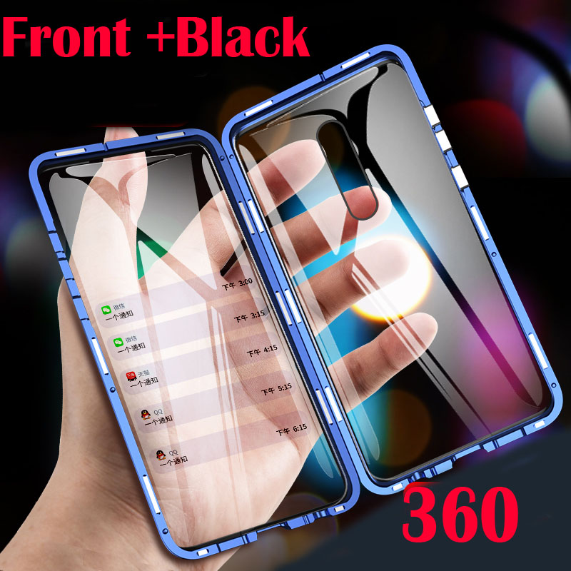 Magnetic Metal Case For Redmi 8 8A K30 Phone Cover For K20 Note 8 7 8T Pro All-inclusive protection Case Cover