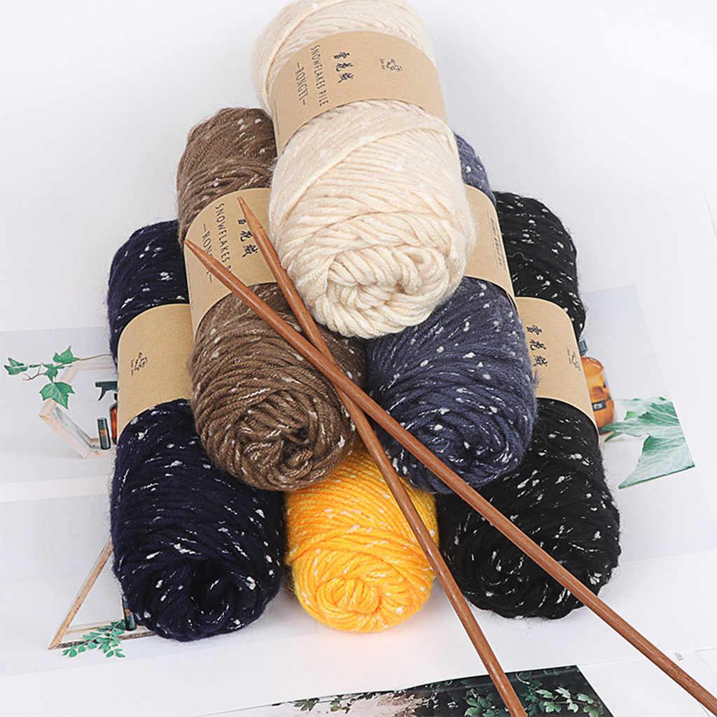 ผ้าพันคอเกล็ดหิมะ DIY โครเชต์หนาเสื้อขนสัตว์เด็กสายคนรักผ้าพันคอผ้าพันคอหมวกความหนาเปลี่ยนขนสัตว์เส้นด้ายด้ายเสื้อผ้า