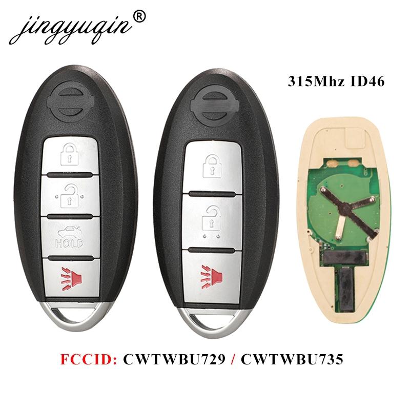 jingyuqin Car Remote Key for Nissan Tiida Teana Altima Maxima Armada Xtrail Pathfinder Rogue Versa juke CWTWBU729 /CWTWBU735