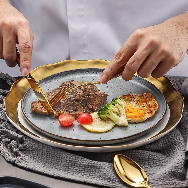 24Pcs/set Luxury Silver Gold Cutlery Set Dinnerware Flatware Set Tableware Silverware Dinner Fork Knife Spoon Drop Shipping 3
