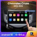 Автомагнитола AWESAFE PX9 для Chevrolet Cruze, мультимедийный видеоплеер на Android 2012, 2 Гб ОЗУ, 32 Гб ПЗУ, с GPS, для Chevrolet Cruze 10,0-2015, J300, J308, типоразмер 2 din
